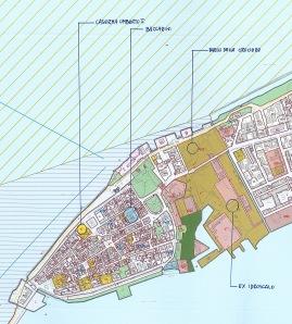 Planimetria di Orbetello centro storico
